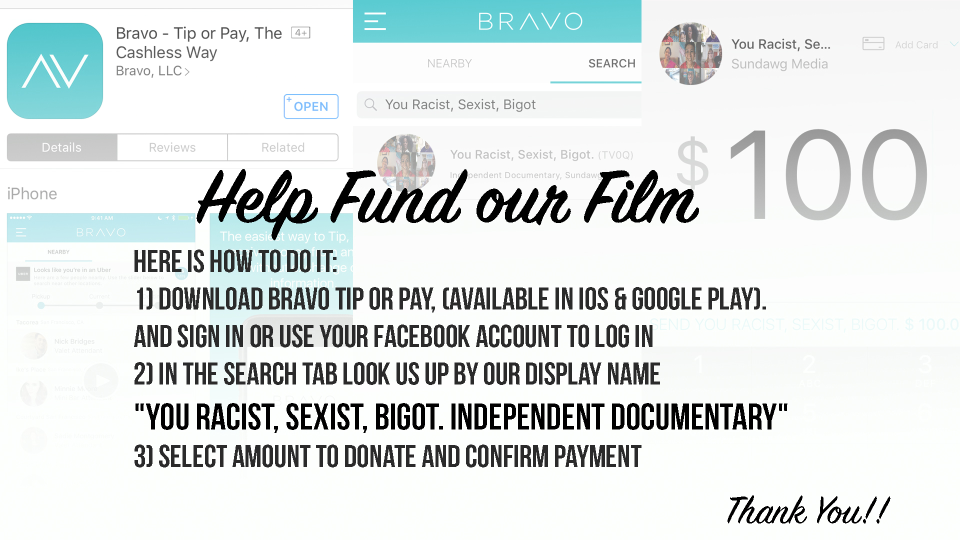 DONATE – You Racist, Sexist, Bigot  Independent Documentary